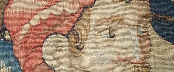 16th century Flemish tapestry fragment